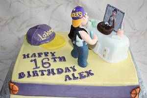 Teen Boys Sweet 16th Birthday Cake - Cake by Pam and Nina's Crafty Cakes