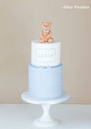 Levin's Baptism Cake - Cake by Alma Pasteles