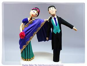 Here Comes The Bride With Her Runaway Groom? - Cake by Pauline Soo (Polly) - Pauline Bakes The Cake!