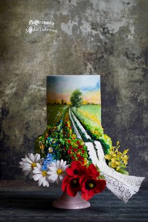 A road in flowers - Cake by Katarzynka