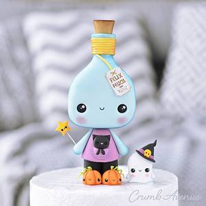 Potion Bottle Cake Topper - Cake by Crumb Avenue