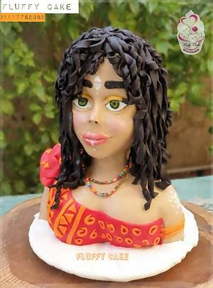 African girl - Cake by Hend kahla