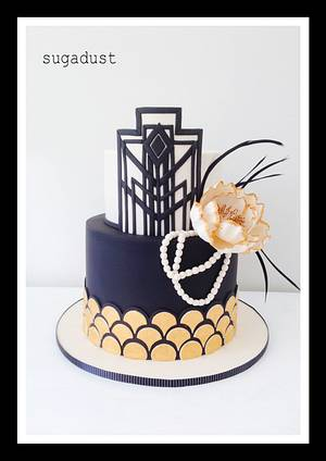 The Great Gatsby 30th - Cake by Mary @ SugaDust