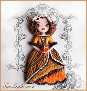 Halloween: pumpkin doll cookie - Cake by Evelindecora
