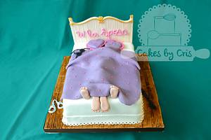 Naughty hen night party Bed cake - Cake by Cakes by Cris