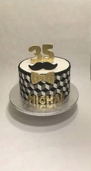 35th birthday cake  - Cake by Kvety na tortu