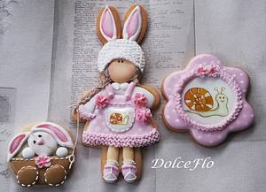 Strolling With Miss Bunny - Cake by DolceFlo
