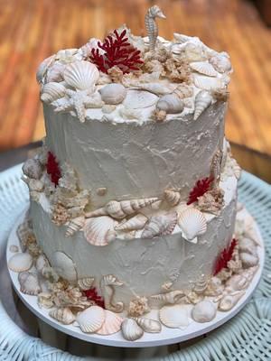 Wedding on the beach - Cake by Carol Pato