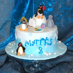 Pingu with friends - Cake by Eva Kralova