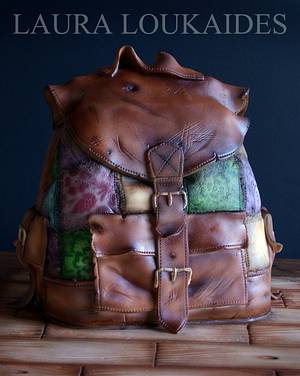 The Old Backpack - Cake by Laura Loukaides