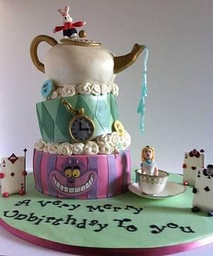 Alice in Wonderland Cake - Cake by Lisapeps