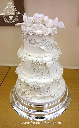 25th wedding anniversary - Cake by Love it cakes