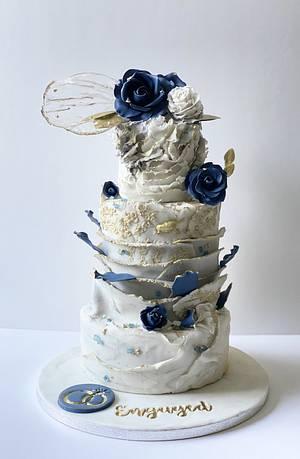 Engagement Cake ✨💍 - Cake by Sadiacakeart