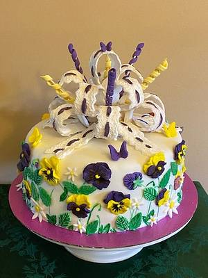 PANSIES - MY FAVORITE - Cake by Julia