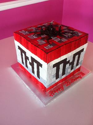 Minecraft TNT cake - Cake by Lily White's Party Cakes