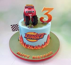 Blaze the Monster Machine - Cake by Canoodle Cake Company