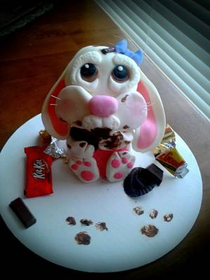 Dear husband, i ate all of your candy while you were away....  - Cake by Jennifer