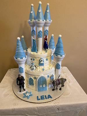 Frozen Castle for Leia - Cake by Julia