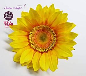 Free-formed sugar Sunflower  - Cake by Catalina Anghel azúcar'arte