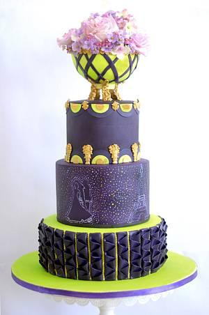 Purple passion- caker buddies collaboration  - Cake by Archana