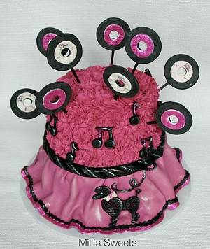 poodle skirt cake  - Cake by milissweets
