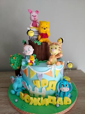 Baby Pooh and friends - Cake by Tanya Shengarova