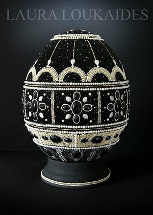 Black Diamond Sugar Egg - Cake by Laura Loukaides