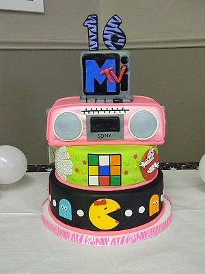 80's Sweet 16 - Cake by Traci