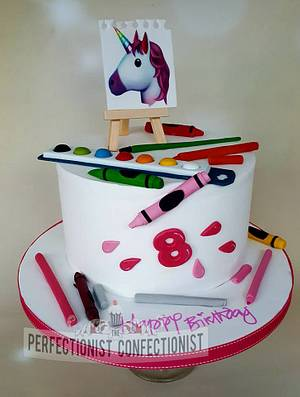 Ciara - Artist and Unicorns Birthday Cake - Cake by Niamh Geraghty, Perfectionist Confectionist