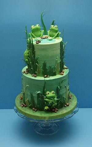 My Frog Cake - Cake by Tonya Alvey - MadHouse Bakes