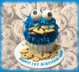 Cookie Monster Cake - Cake by MsTreatz