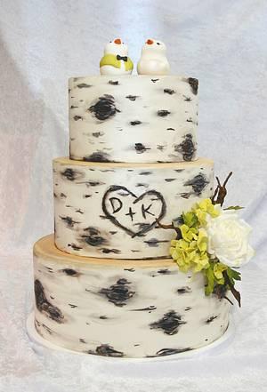 wedding cake. - Cake by Sannas tårtor