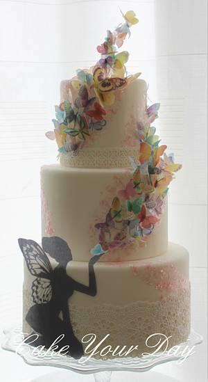 Butterflies kisses cake. - Cake by Cake Your Day (Susana van Welbergen)
