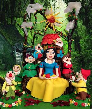The Snow White and the seven dwarfs - Cake by Dimitra Mylona - Sweet Zoe Cakes