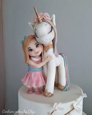 Girl with an unicorn - Cake by Couture cakes by Olga