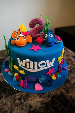 Nemo and Dory Cake - Cake by Sweetessa