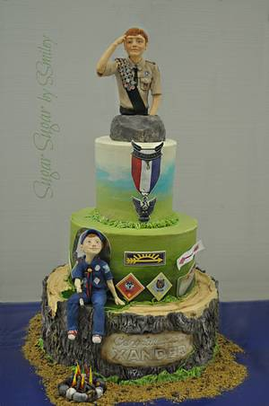 Eagle Scout, Xander - Cake by Sandra Smiley