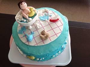 Baby in a bath tub - Cake by Radhika