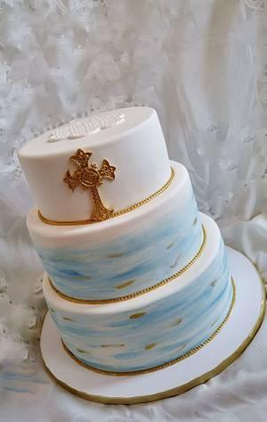 Baptism  - Cake by Enza - Sweet-E