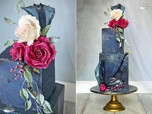 Navy blue - Cake by Lorna