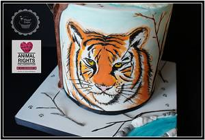 Animal Right Collaboration-Siberian Tiger - Cake by Planet Cakes