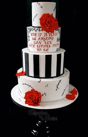 Nightmare Before Christmas wedding cake  - Cake by CupcakesbyLouise