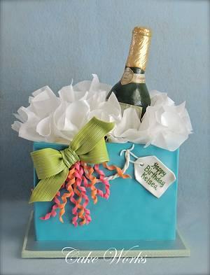 Champagne Gift Bag - Cake by Alisa Seidling