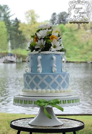 Wedgewood Wannabe - Cake by Joy Thompson at Sweet Treats by Joy