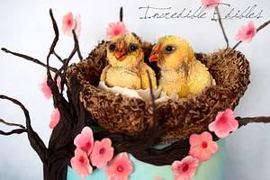 Spring Chick Cake! - Cake by Vicki's Incredible Edibles