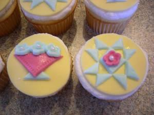 Quilt Block Cupcakes - Cake by Deanna Dunn