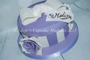 Present Box cake - Cake by JojosCupcakeMadness