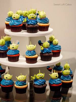 Toy Story Alien Cupcakes - Cake by Heidi