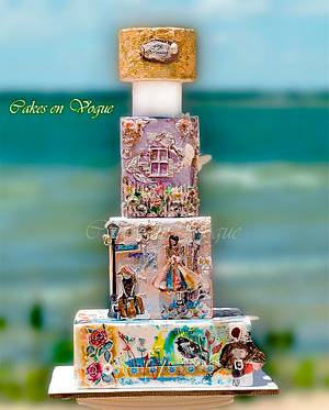 Summer Holiday scrapbook story. - Cake by Cakes en Vogue