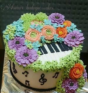 Musical Flower - Cake by Ashwini Tupe